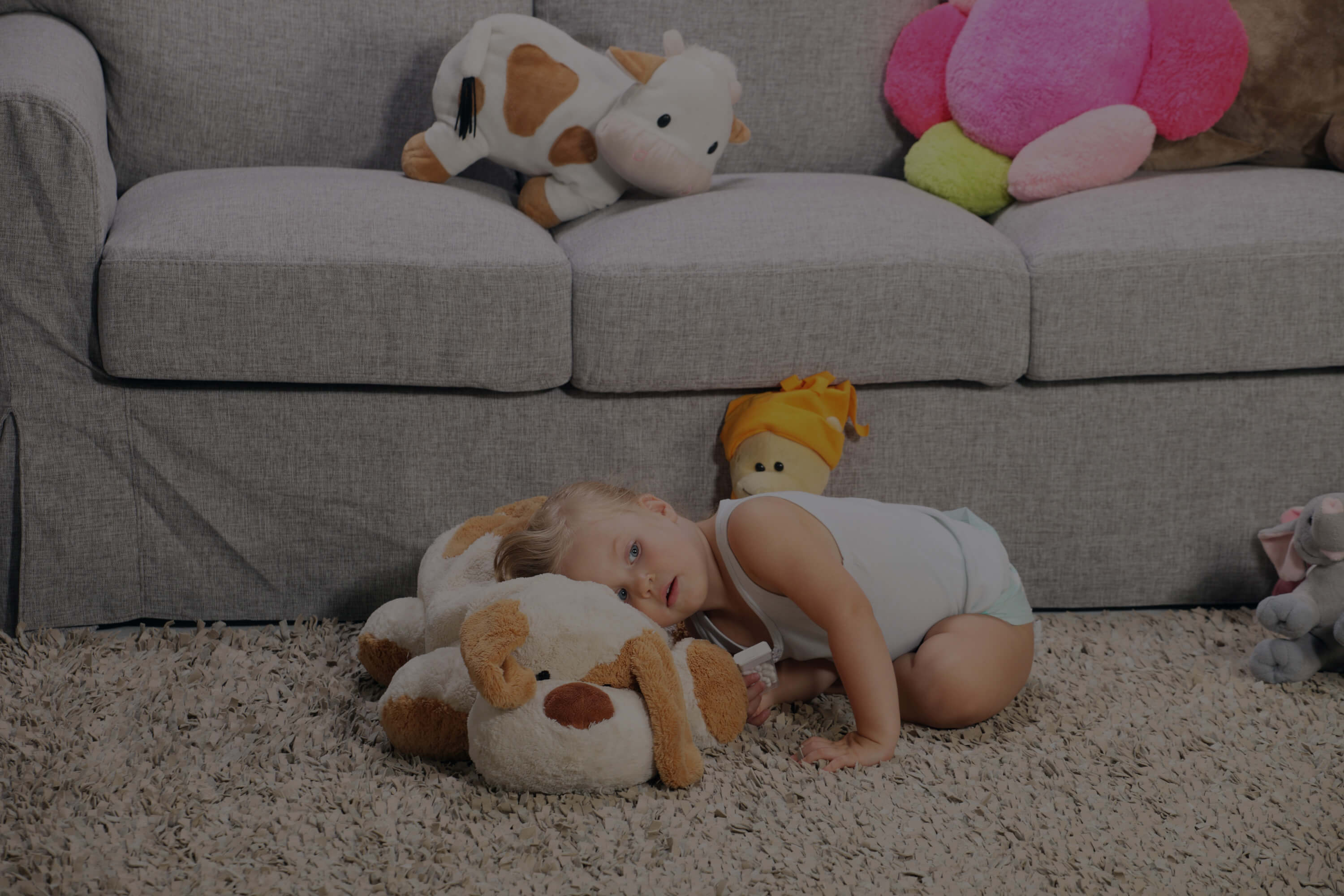 couch and baby